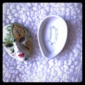 Venice mask ceramic jewelry box